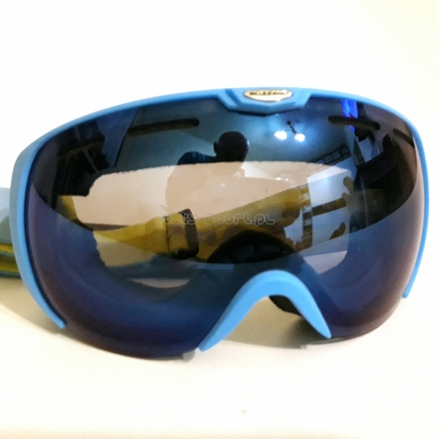 f2409327b Gogle Blizzard 921 Neon Blue Mat S3 + POKROWIEC