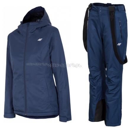 5b1320902 Kombinezon narciarski damski 4F Z18 kurtka + spodnie granarowy