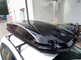 Box dachowy  Northline TIROL 420 Wing Black Glossy