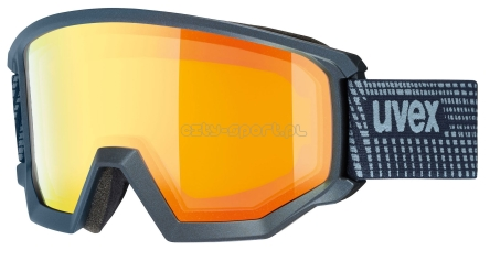 GOGLE NARCIARSKIE UVEX ATHLETIC FM BLACK ORANGE S2 NA OKULARY