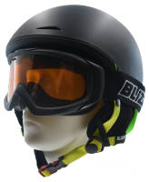 ZESTAW Kask narciarski BLIZZARD SPEED black/green + gogle Blizzard 906 black S1