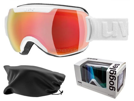 Gogle UVEX Downhill 2000 FM WHITE / RED MIRROR S3