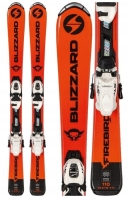 JUNIORSKIE Narty Blizzard 140 FIREBIRD JR ORANGE +wiązania FDT 7 140cm