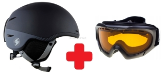 ZESTAW Kask narciarski BLIZZARD SPEED black/grey + gogle Blizzard 912 black S1