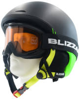 ZESTAW Kask narciarski BLIZZARD SPEED black/green + gogle Blizzard 911 black S1