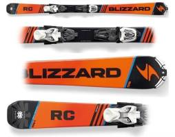 Narty Blizzard RC JR Orange MAT + wiązania iQ 4.5 100 CM